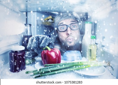 It's snowing inside the refrigerator
