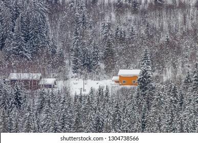 Snowing in Norway