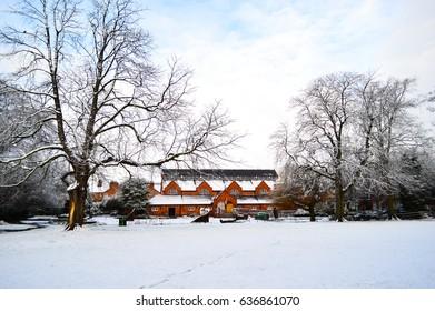 Snowing in the Public Park -  Loughborough (UK)