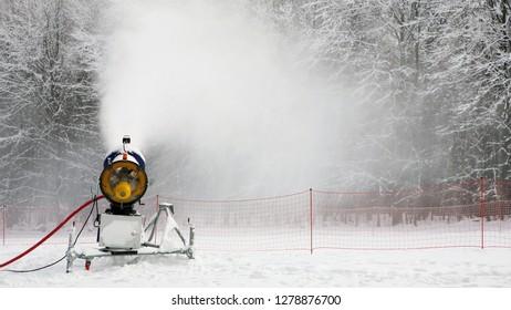 snowmaker is working