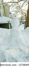 Snowman is an anthropomorphic snow sculpture often built by children in regions with sufficient snowfall.