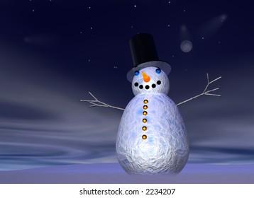 snowman at hight