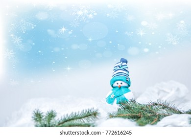Snowman puppet for merry christmas