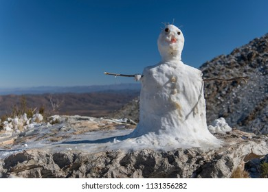 Snowman at the top of the Swartberg pass