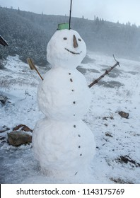Snowman. Winter and celebrations.