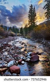 Snowmass Creek at Sunset, Snowmass, Colorado
