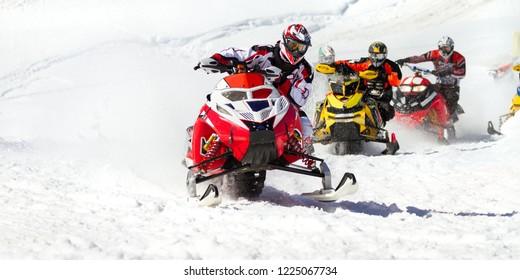 snowmobile Championship race