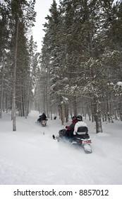Snowmobile Trail Ride