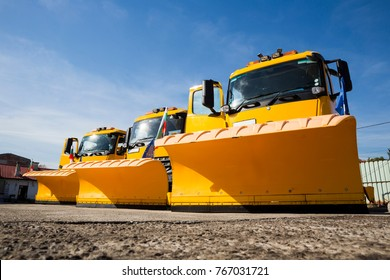 A snowplow (also snow plow, snowplough or snow plough) is a device intended for mounting on a vehicle, used for removing snow and ice from outdoor surfaces.