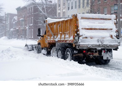 Snowplow Clearing the Streets of Harrisburg, Pennsylvania