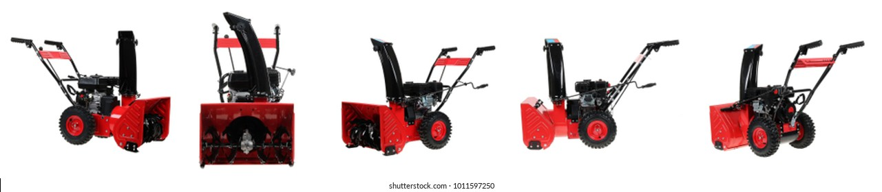 snowplow on a white background