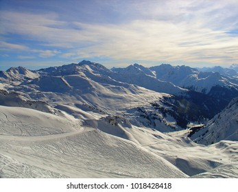 Snowscape from mountain top