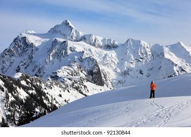 Snowshoeing at Mt Baker, Washington, USA