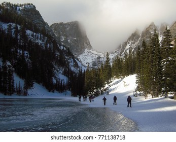 Snowshoers in Rocky Mountain National Park