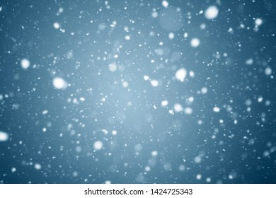 snowstorm closeup in the night