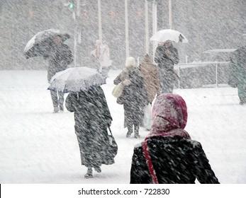 Snowstorm in Finland