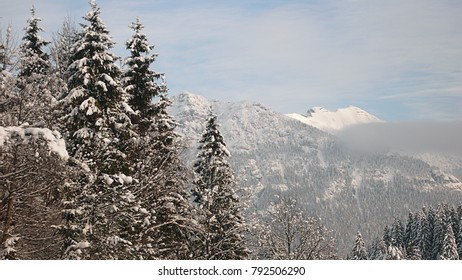 Snowy alp panorama near Garmisch in Bavaria, Germany