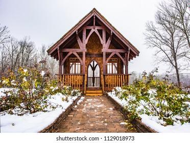 Snowy Altar in Table Rock State Park near Greenville South Carolina SC
