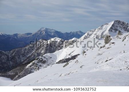Snowy Apennines near Passo
