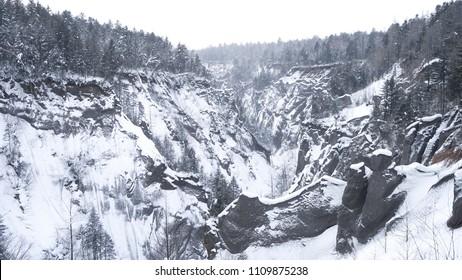 Snowy Canyon, Jilin, Northeast China
