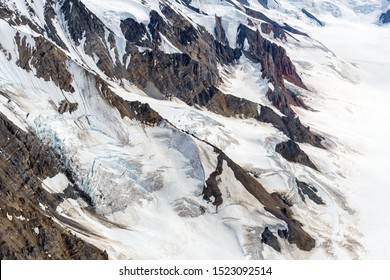 Snowy cliffs in Kluane National Park, Yukon, Canada