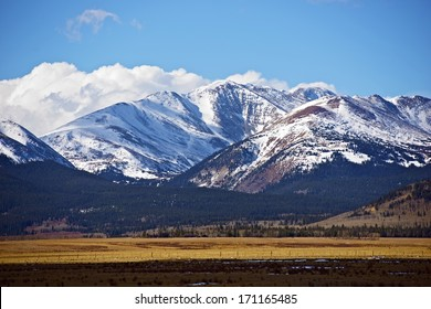 Snowy Colorado Mountains Near Fairplay, Colorado, United States. Rocky Mountains Landscape in a Late Fall. Colorado Photo Collection.