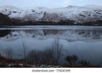 Snowy and frosty landscape