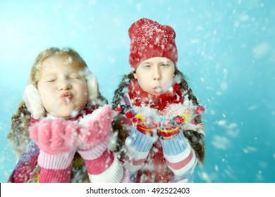 Snowy girls