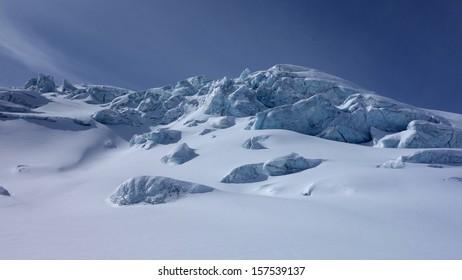 Snowy glacier