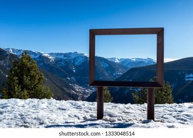 Snowy landscape in Andorra