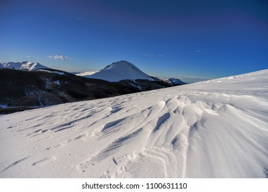 Snowy mountain landscapes