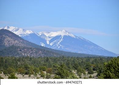 Snowy Mountain Peak, AZ, USA