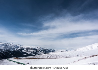 Snowy mountain scenery in western China