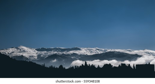 Snowy mountain (Sierra Nevada, Granada)
