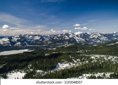 Snowy Mountain Wilderness Aerial in Washington Evergreen State