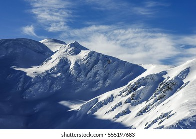 snowy mountain in the winter