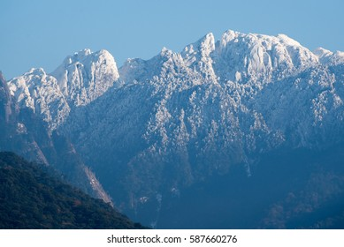The snowy mountains