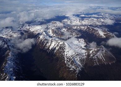 Snowy mountains of the Andes - Ushuaia - Argentina