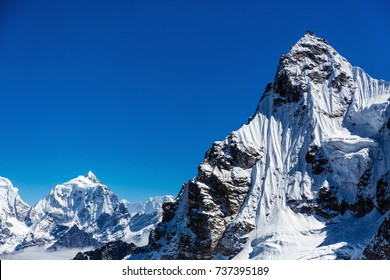 Snowy mountains of the Himalayas