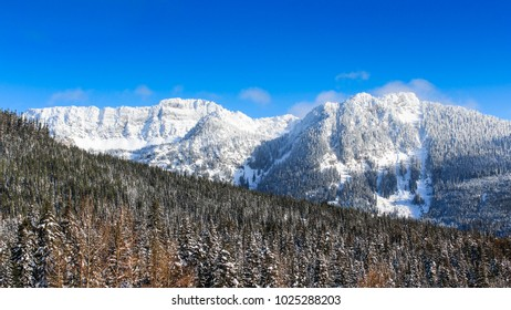Snowy mountains in the pacific north west