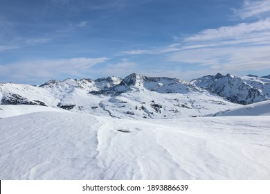 Snowy mountains in a sunny day Spain