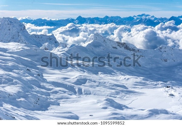 snowy mountains in zermatt , alps