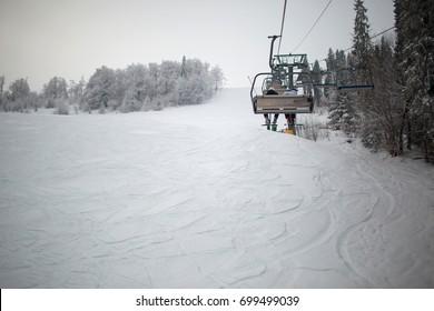 Snowy mountains,skii