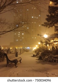 Snowy night in Russia