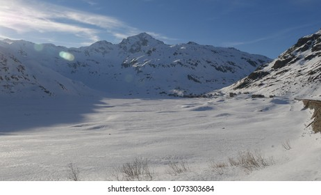 snowy peaks in the Alps, Lombardy, Italy