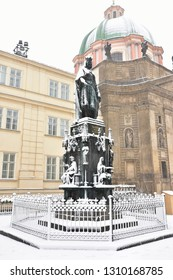 snowy Prague,capital city of Czech