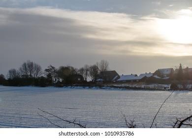 snowy rural scene
