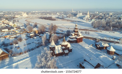 Snowy Russian winter in Suzdal, Golden Ring of Russia