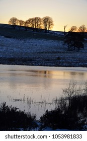 Snowy Sunset at Waldegrave Pool & North Hill 