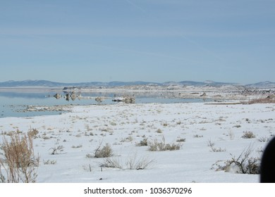 snowy tundras of Mono Lake, California